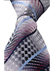 Classic Jacquard Woven Silk Men Leisure Colored Necktie Tie