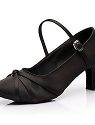 "economico -Scarpe da ballo - Disponibile ""su misura"" - Donna - Latinoamericano / Salsa / Samba - Customized Heel - Satin - Nero"