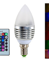 ywxlight® 4w e14 led a lume di candela 3 integrato led rgb dimmerabile a controllo remoto ac85-265v