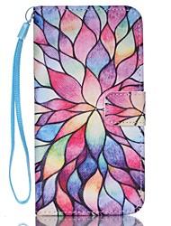 رخيصةأون -غطاء من أجل Samsung Galaxy حالة سامسونج غالاكسي محفظة / حامل البطاقات / مع حامل غطاء كامل للجسم زهور جلد PU إلى S8 Plus / S8 / S7 edge