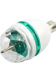 YWXLight® 1pc Auto 3W E27 Crystal Rotating RGB LED Stage Projector Light Bulb Colourful For Disco Party Light AC 100-240V