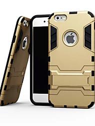 Недорогие -Кейс для Назначение Apple iPhone X iPhone 8 iPhone 6 iPhone 6 Plus Защита от удара со стендом Кейс на заднюю панель броня Мягкий ТПУ для