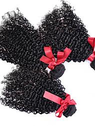 abordables -3 offres groupées Cheveux Brésiliens Bouclé / Afro / Kinky Curly Cheveux humains Tissages de cheveux humains Tissages de cheveux humains Extensions de cheveux humains / Très Frisé