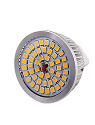 GU5.3(MR16) Focos LED MR16 48 leds SMD 2835 Decorativa Blanco Cálido 600lm 3000K DC 12V