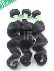 Недорогие -Индийские волосы Свободные волны Классика Ткет человеческих волос 3 предмета Высокое качество Человека ткет Волосы Повседневные