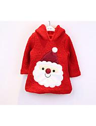 baratos -Crianças Estampado Moleton & Blusa de Frio, Poliéster Inverno Branco Vermelho Rosa claro