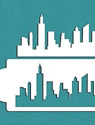 New York Skyline Cake Stencil, Cake Side Stencil, Stencil for Cake Decorating, Wall Decorating Stencil,ST-418