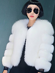 cheap -Women's Party / Evening Casual Street Coats / Jackets Chic & Modern Rabbit Fur Faux Fur