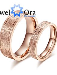 Prstýnky Módní Párty Šperky Ocel Dámské Široké prsteny 1ks,Jedna velikost Růžové zlato