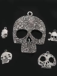 economico -beadia metallo cranio pendenti di fascino placcato argento antico accessori gioielli fai da te