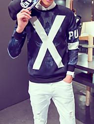 billige -Herre Farveblok Sweatshirt - Trykt mønster, Moderne Stil