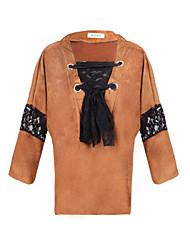abordables -Camisetas ( Acrílico / Algodón Compuesto )- Casual Escote en V Manga Larga para Mujer