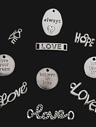 economico -beadia argento antico sempre&amare&sperare&vivi Ridi ama&Credi nell'amore&Vivi il tuo sogno di metallo pendenti di