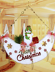 "53*51CM/21*20"" Christmas Snowman Moon Doors Hangings Christmas Tree Hotel Home Decoration Window"
