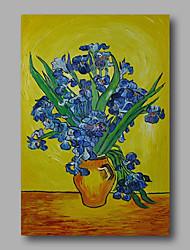 Dipinta a mano Astratto / Floreale/BotanicalModern Un Pannello Tela Hang-Dipinto ad olio For Decorazioni per la casa