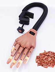 abordables -la pratique du modèle manucure main mobile articulation prothétique flexible avec support 1 paquets de clous