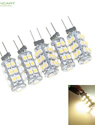 abordables -2W G4 Luces LED de Doble Pin MR11 25 SMD 3528 120-160 lm Blanco Cálido / Blanco Natural Regulable DC 12 / AC 12 V 5 piezas