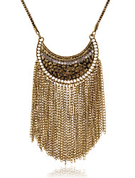 cheap -Women's Shape Tassel Fashion European Statement Necklace Crystal Imitation Diamond Alloy Statement Necklace Party Daily Casual Costume