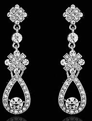 cheap -Vintage Women's  Earrings  Diamond  Silver Earring For Wedding Bridal