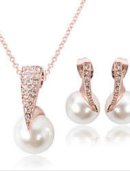 Fashion Pendant Pearl Jewelry Set include Necklace & Earrings