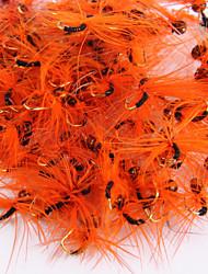 """20 pc Mosche Esca Mosche Arancione Rosso Blu Giallo Verde vetro Caffè g/Oncia,3 mm/<1"""" pollice,Metallo Pesca a mosca"""