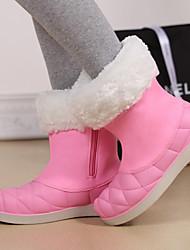 Damen Komfort Neuheit Roller-Skate Schuhe Kunststoff Frühling Herbst Winter Sportlich Normal Kleid Flacher Absatz Schwarz Grau Rosa Flach