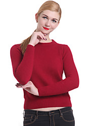 cheap -Women's fashion Casual/Work Long Sleeve Pullover , Knitwear Medium