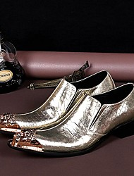 cheap -Men's Shoes Amir New Style Gold Flash Wedding / Night Club & Party Cowhide Leather Loafers