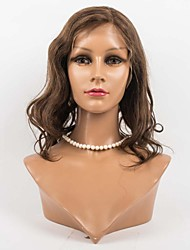 Χαμηλού Κόστους -Φυσικά μαλλιά Πλήρης Δαντέλα Περούκα στυλ Βραζιλιάνικη Κυματομορφή Σώματος Περούκα 130% Πυκνότητα μαλλιών 8-12 inch με τα μαλλιά μωρών Φυσική γραμμή των μαλλιών Περούκα αφροαμερικανικό στυλ 100