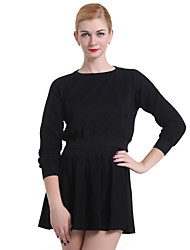cheap -Women's Going Out  Casual/Work Long Sleeve Pullover , Knitwear Medium