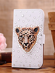 cheap -Case For Samsung Galaxy Samsung Galaxy Case Card Holder Rhinestone Flip Full Body Cases Animal PU Leather for S7 edge S7 S6 edge plus S6