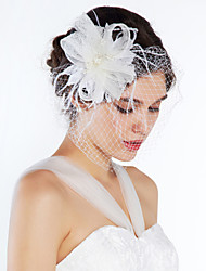 cheap -Tulle Crystal Fabric Tiaras Flowers 1 Wedding Special Occasion Party / Evening Casual Headpiece