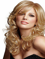 cheap -Blonde Synthetic Medium  Wave Wig To European Women Lady New Arrival