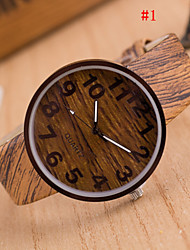 cheap -Men's Quartz Wrist Watch Casual Watch PU Band Charm Wood Multi-Colored