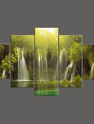 5 Panel Modern Painting Home Decorative Art Picture Paint on Canvas Prints beautiful and spectacular waterfalls