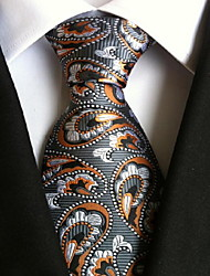 cheap -Men's Party / Work / Basic Polyester Necktie - Graphic Print / Cute / Multi-color