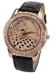 baratos -Mulheres Relógio de Pulso Venda imperdível PU Banda Brilhante / Leopardo / Fashion