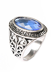 cheap -Women's Gold Plated Statement Ring - Fashion Black / Purple / Blue Ring For Party