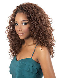 cheap -Fashion African Black and Brown Two color Aviable Long Curly Synthetic Hair Wig.