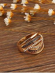 Prstenje Vjenčanje / Party / Dnevno / Kauzalni Jewelry Legura / Zircon Žene Prstenje sa stavom 1pc,6 / 7 / 8 / 9 Zlatna / Srebrna