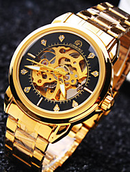 Men's Business Round Diamond Dial Mineral Glass Mirror Stainless Steel Band Fashion Mechanical Waterproof Watch Wrist Watch Cool Watch Unique Watch