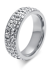 cheap -Z&X® Fashion Rhinestone Titanium Wedding Steel Ring Band Rings Party / Daily / Casual 1pc