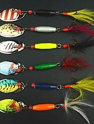 baratos -6 pcs Isco Duro / Iscas Isco Duro / Gigas / Iscas Buzzbait & Spinnerbait Metal Pesca de Mar / Pesca de Gancho / Pesca de Isco e Barco