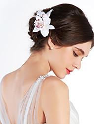 billige -Krystal / Stof Tiaras / Blomster med 1 Bryllup / Speciel Lejlighed / Fest / aften Medaljon