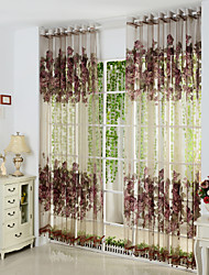 Rod Pocket Grommet Top Tab Top Double Pleated Pencil Pleated Two Panels Curtain European Polyester Material Sheer Curtains Shades Home