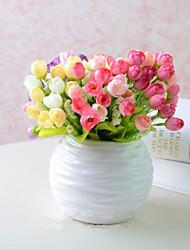 4 clor country style multicolor chá rosas decoração de casa flores artificiais