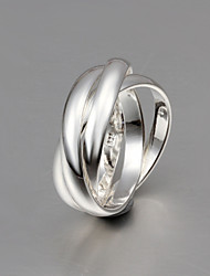 cheap -New  Fashion Size 8 Tricyclic Sterling Silver Ring Band Rings For Woman & Lady