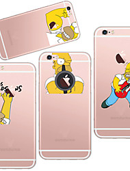 For iPhone 7 MAYCARI®The Handsome Simpson TPU Back Case for iPhone 6/iphone 6S