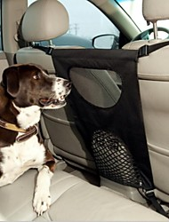 Dog Car Seat Cover Pet Carrier Foldable Solid Black