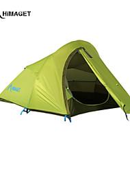 Недорогие -HIMAGET 2 человека Световой тент Двойная Палатка Однокомнатная Сохраняет тепло Влагонепроницаемый Хорошая вентиляция Скорость
